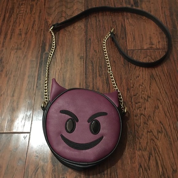 Olivia Miller Devil Emoji Crossbody Purse